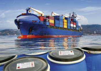 The inkjet specialty PP adhesive materials from VPF are extremely resistant to saltwater and abrasion. Therefore, they fulfil an important requirement for hazardous materials labelling in the international transportation of chemicals