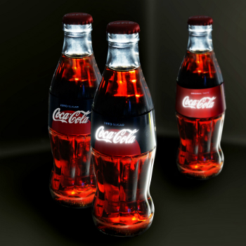 The OLED Coca-Cola bottle (photo: Karl Knauer)