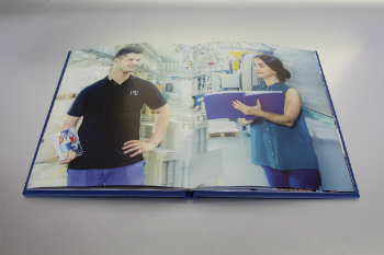 Caption: An interactive book with integrated, printed loudspeakers (photo: TU Chemnitz and ARKEMA Piezotech)