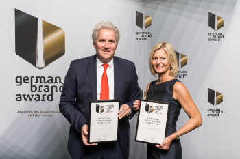 Rudolf Supe-Dienes and Miriam Supe-Dienes at the German Brand Award (photo: DIENES)