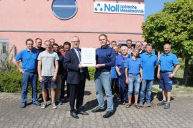 Dr. Noll GmbH is proud at 25 years of company history (photo: Erhardt+Leimer)