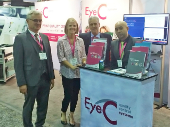 The team of EyeC at Labelexpo Americas 2018 (photo: EyeC)