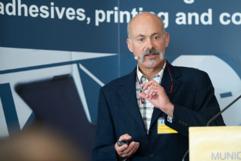 Dr Robert Beer from Polytype Converting at MKVS 2018 (photo: Hinterwaldner Consulting)