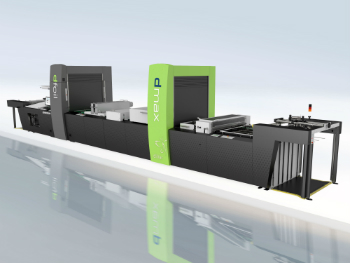 Steinemann's finishing machine dmax with the dfoil module for digital metallization (photo: Kurz)
