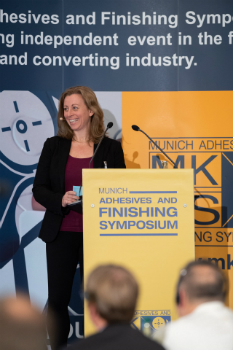 Dr Katja Greiner, European technical service manager adhesives, Synthomer Deutschland GmbH (photo: Hinterwaldner Consulting)