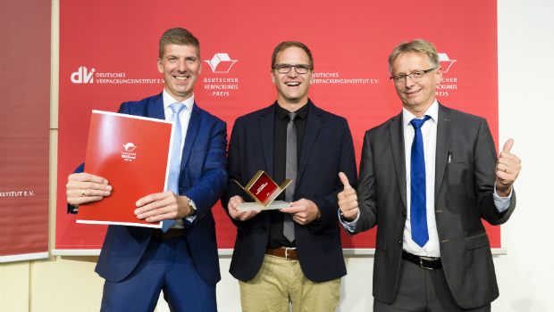 Andreas Stöber, Markus Attenberger and Johannes Wedi (from left) accepted the award for Bischof + Klein.