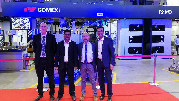 Representatives from Comexi and Constantia in Ahmedabad.