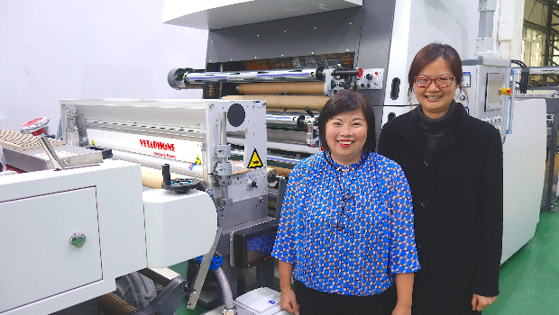 Emma Lin (left) and Carol Liang at the Wen Chyuan manufacturing plant in New Taipei City.