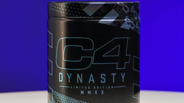 C4 Dynasty energy supplement with a label from McDowell Label.