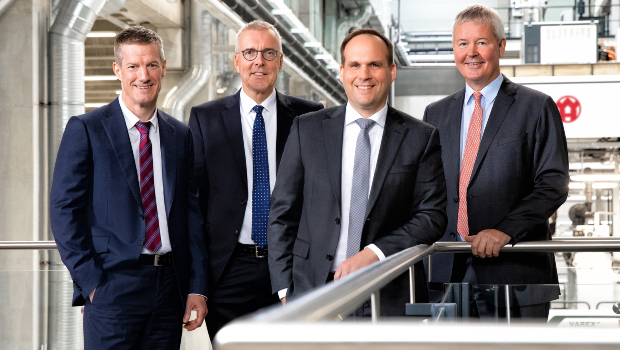Changes to the management board of W&H: Dr Jürgen Vutz joins the supervisory board, Peter Steinbeck becomes CEO (f.l.t.r.: Martin Schulteis, Dr Jürgen Vutz, Dr Falco Paepenmüller, Peter Steinbeck).